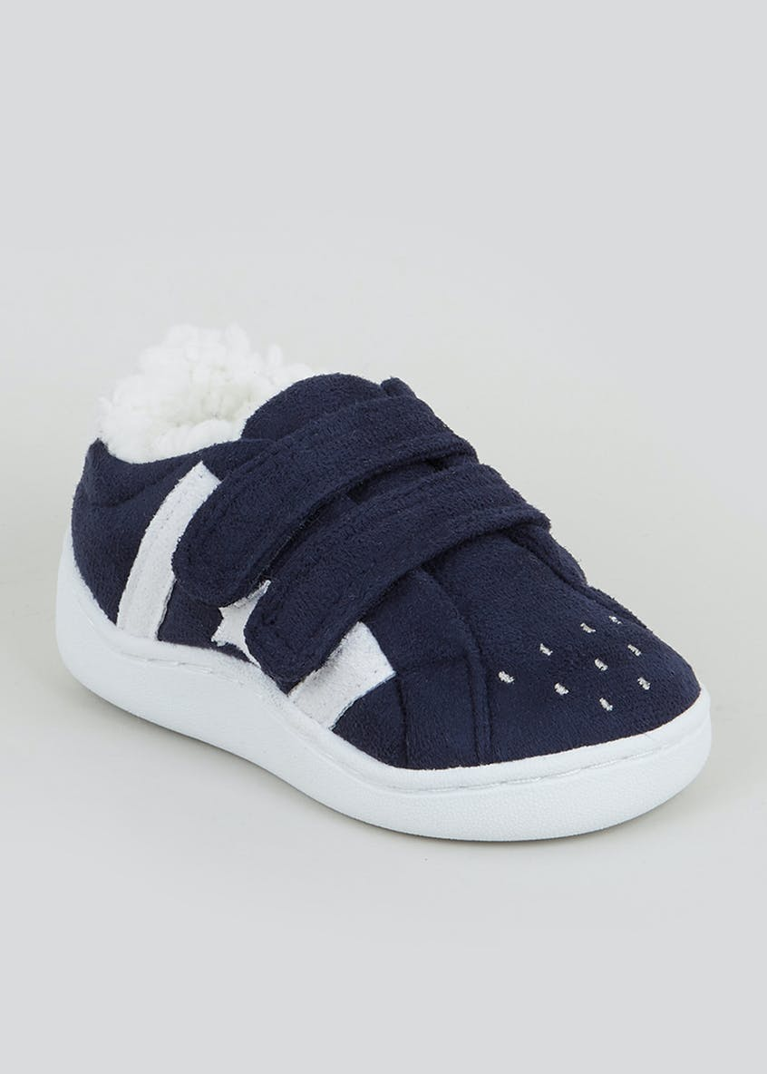 Boys Navy Sneaker Style Slippers (Younger 4-12)