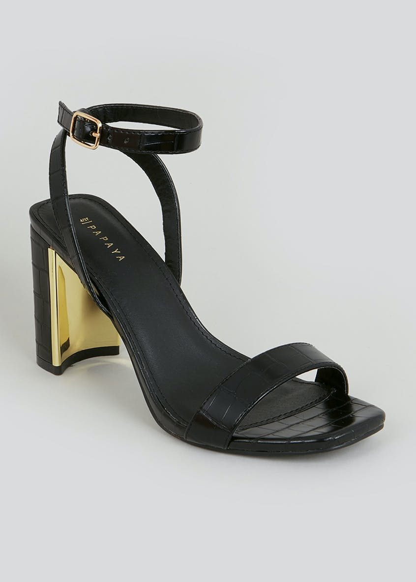 Black Gold Feature Heels