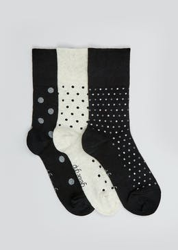 3 Pack Spot Gentle Grip Socks