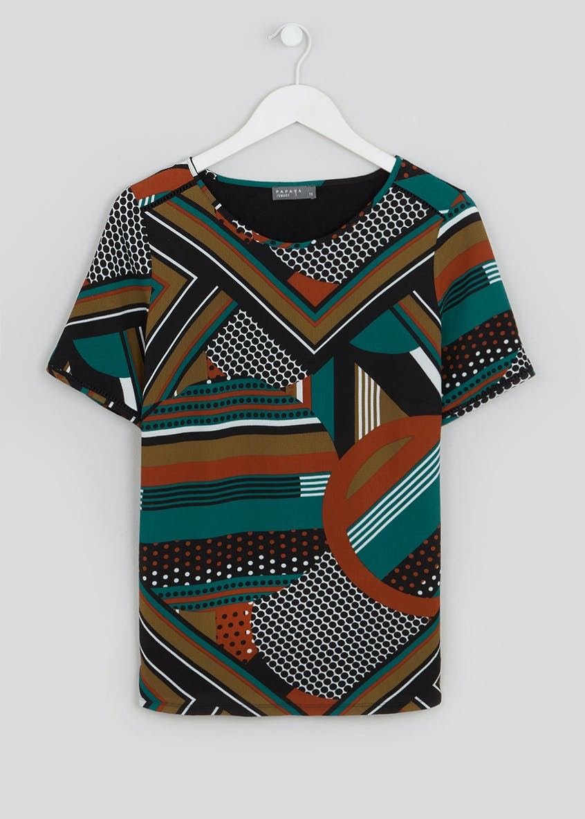 Graphic Print Woven Top