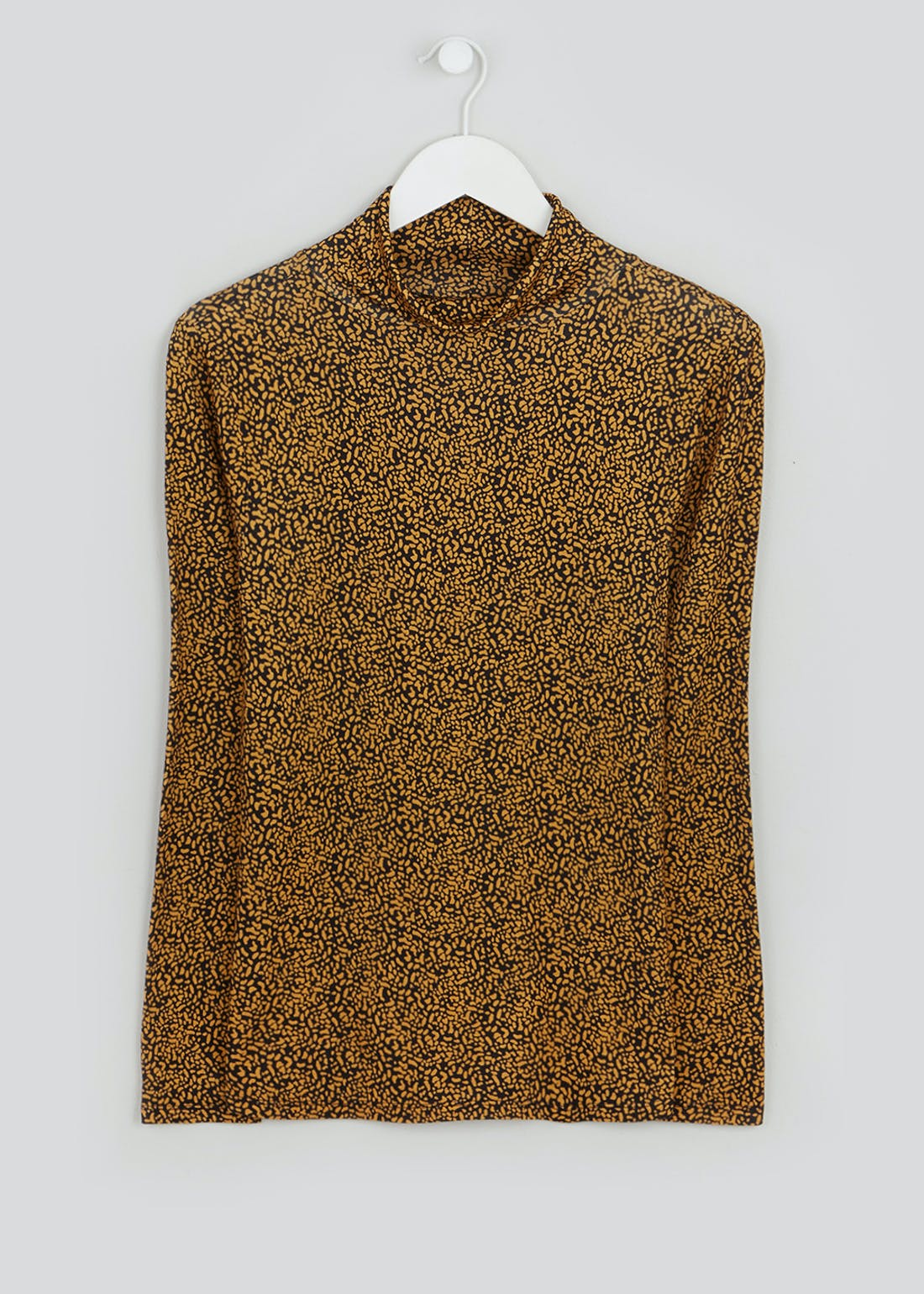 Long Sleeve Abstract Dot Roll Neck Top