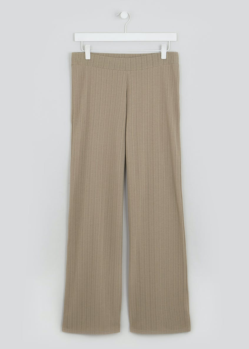 Ribbed Co-Ord Wide Leg Trousers