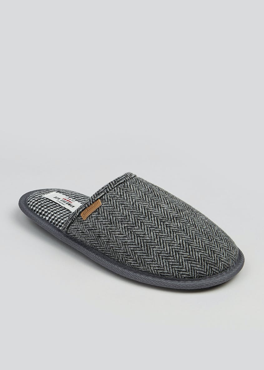 Ben Sherman Herringbone Mule Slippers
