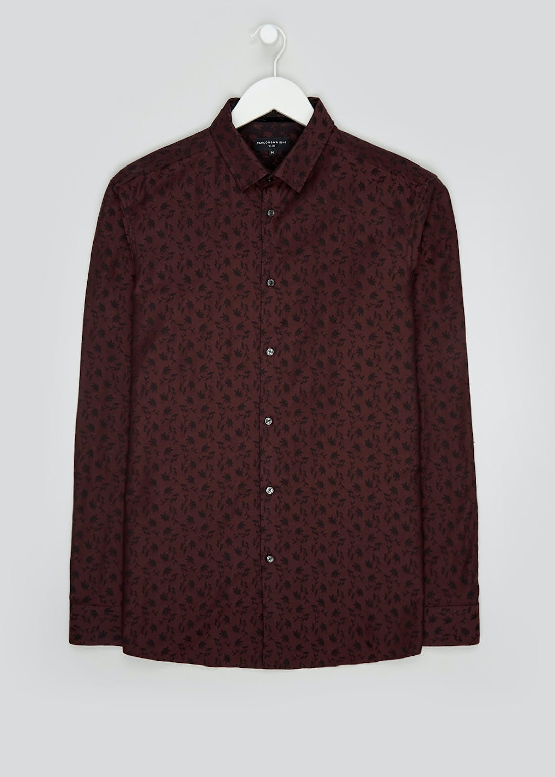 Taylor & Wright Stavely Slim Fit Floral Long Sleeve Shirt