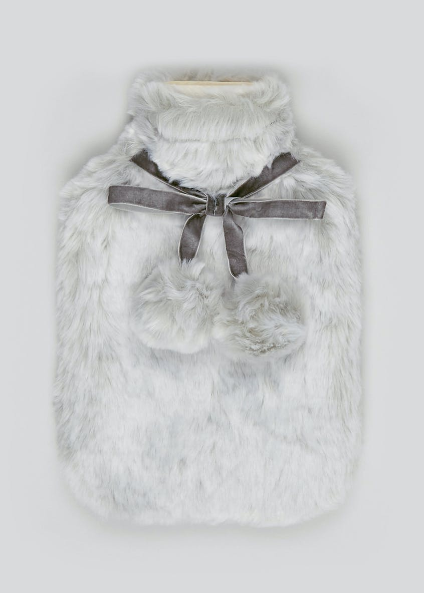 Faux Fur Hot Water Bottle (35cm x 24cm)