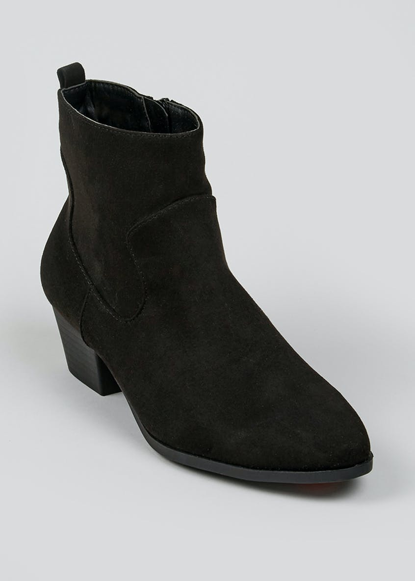 Wide Fit Black Heel Chelsea Boots