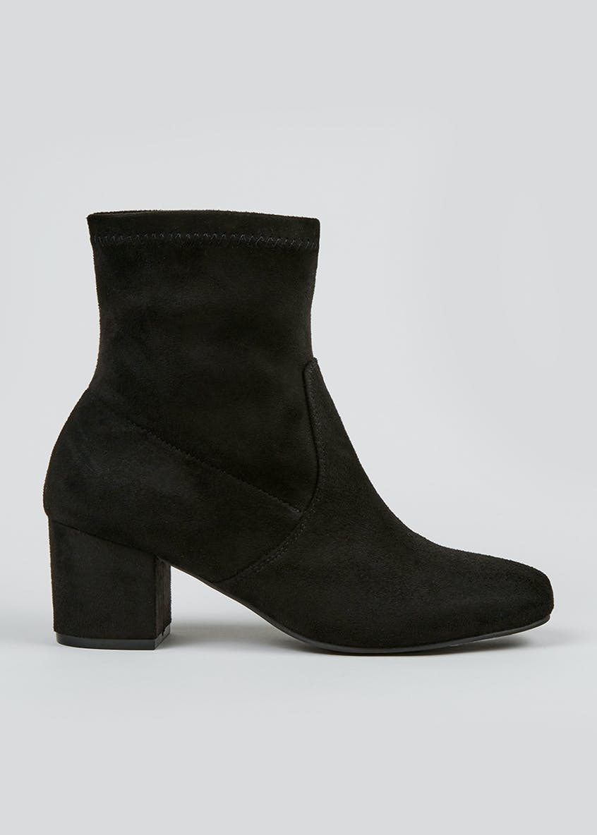 Block Heel Sock Boots