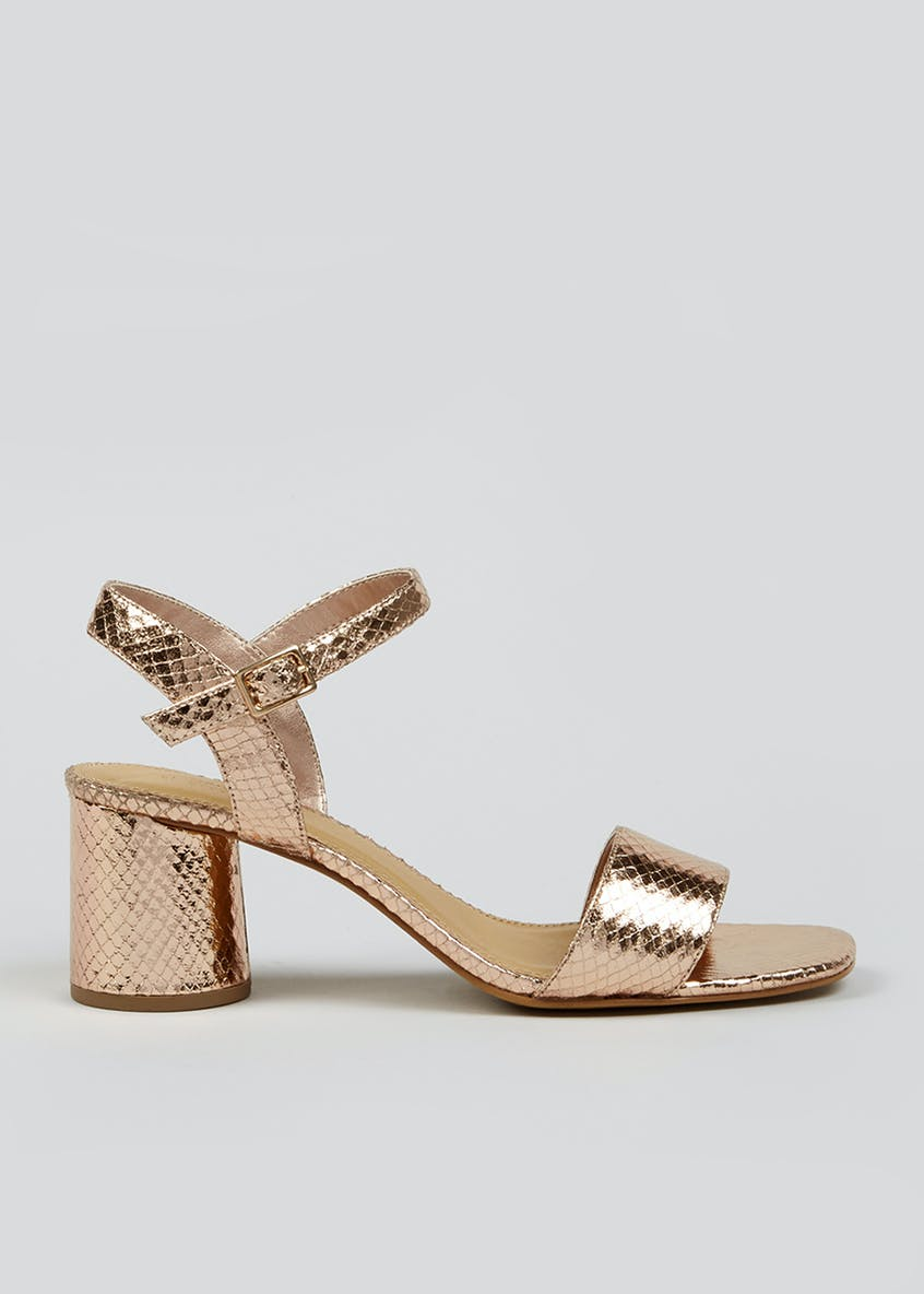 Wide Fit Rose Gold Sandals