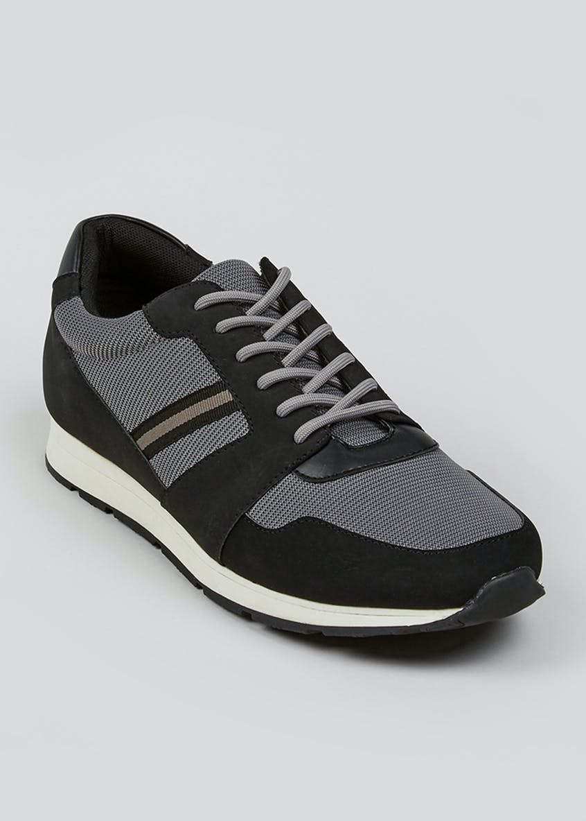 Black Contrast Panel Trainers