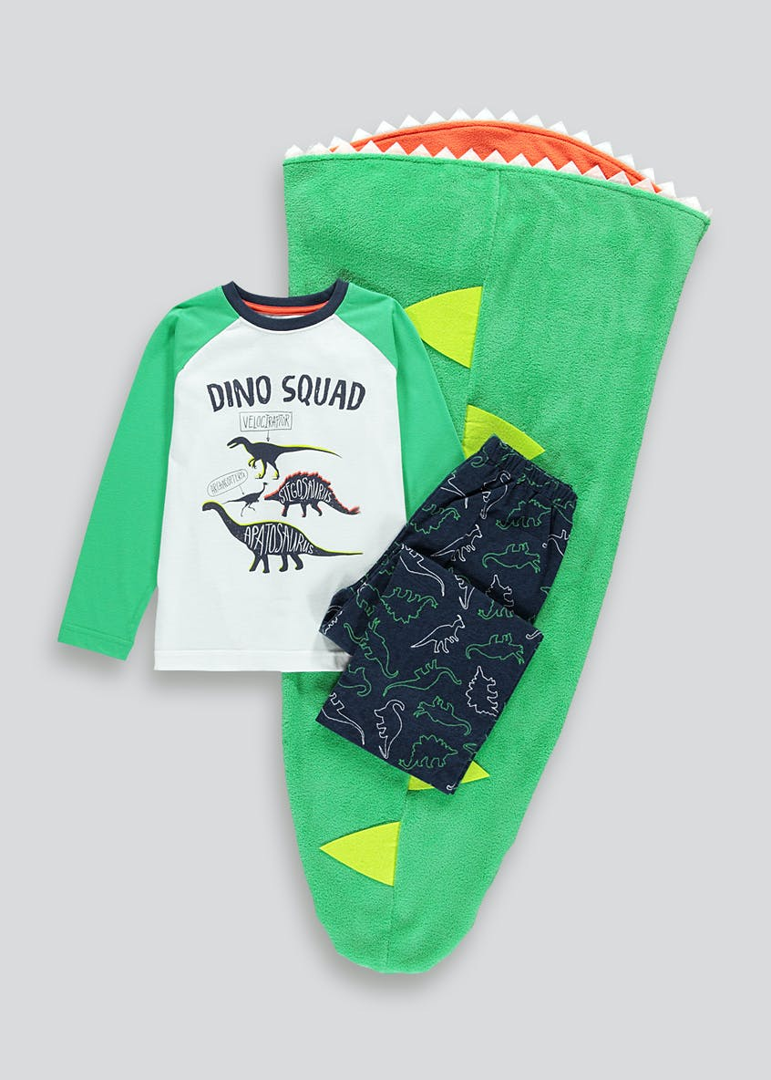Kids 3 Piece Dinosaur Pyjama Set (4-13yrs)