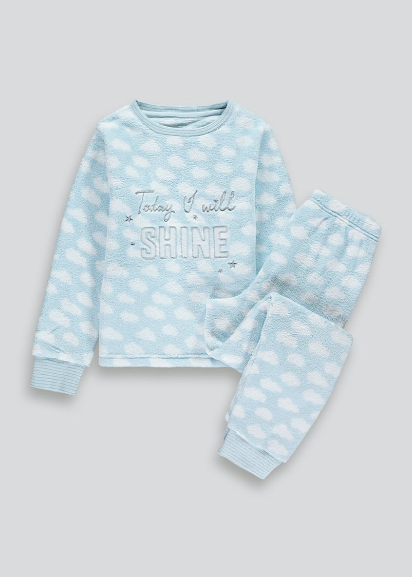 Girls Fleece Cloud Pyjama Set (5-13yrs)