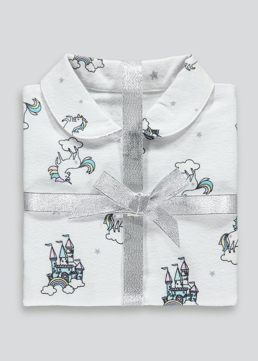 Girls Unicorn Castle Pyjama Set (12mths-5yrs)