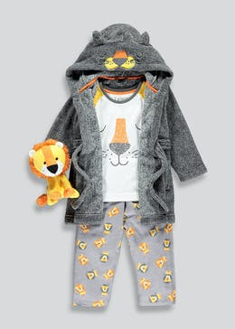 Boys 3 Piece Lion Pyjama Set (9mths-5yrs)