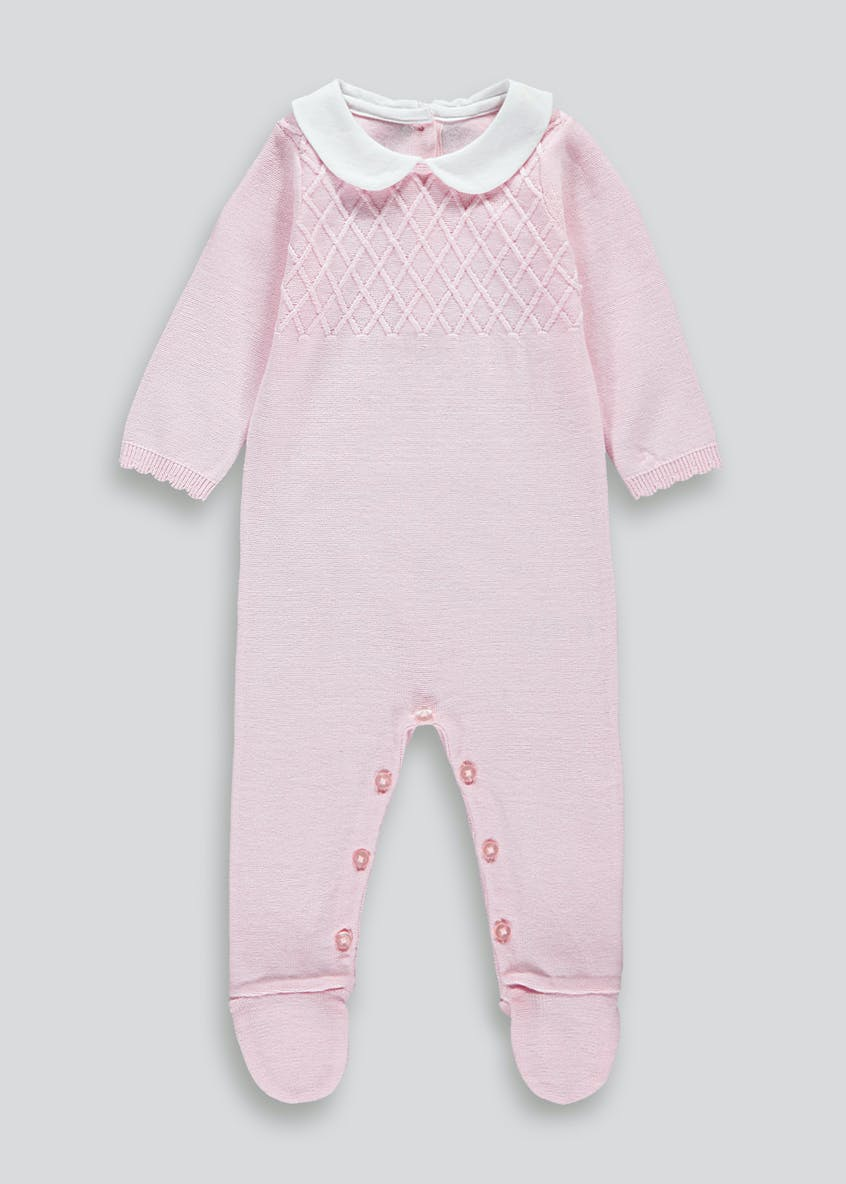 Unisex Traditional Knitted Romper (Tiny Baby-18mths)
