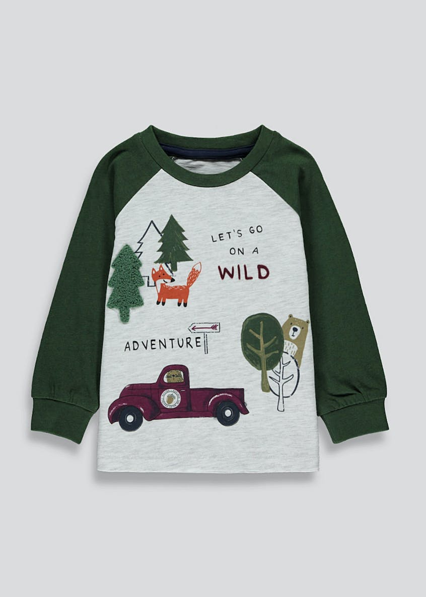 Boys Adventure Print Long Sleeve Top (9mths-6yrs)