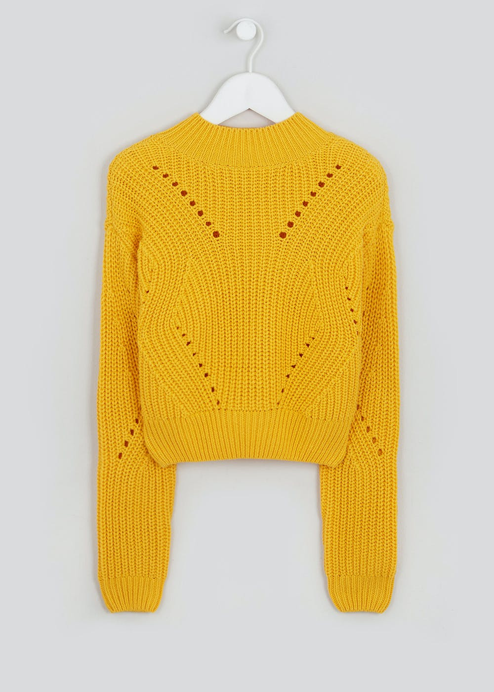 Girls Candy Couture Oversized Cropped Jumper (9-16yrs) – Mustard