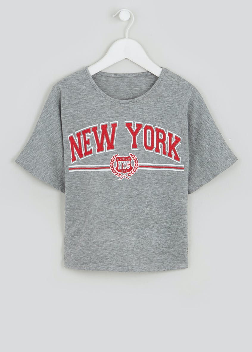 Girls Candy Couture New York Cropped T-Shirt (9-16yrs)