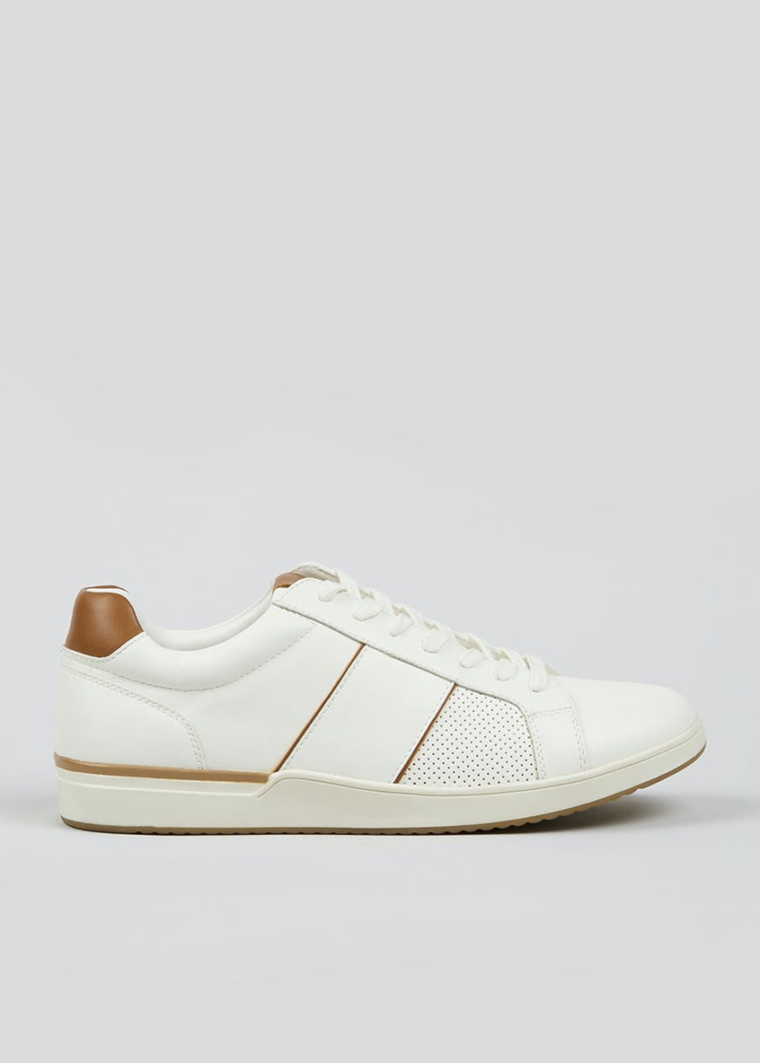 Leather Look Lace Up Trainers