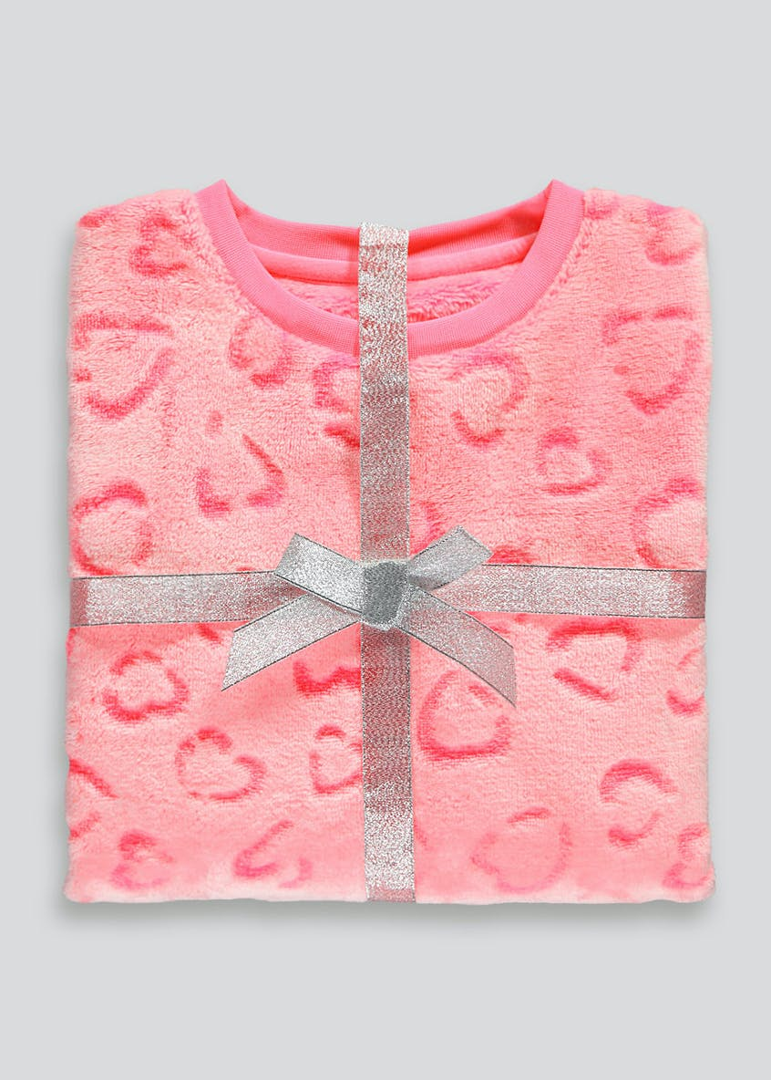 Girls Fleece Animal Print Pyjama Set (5-13yrs)