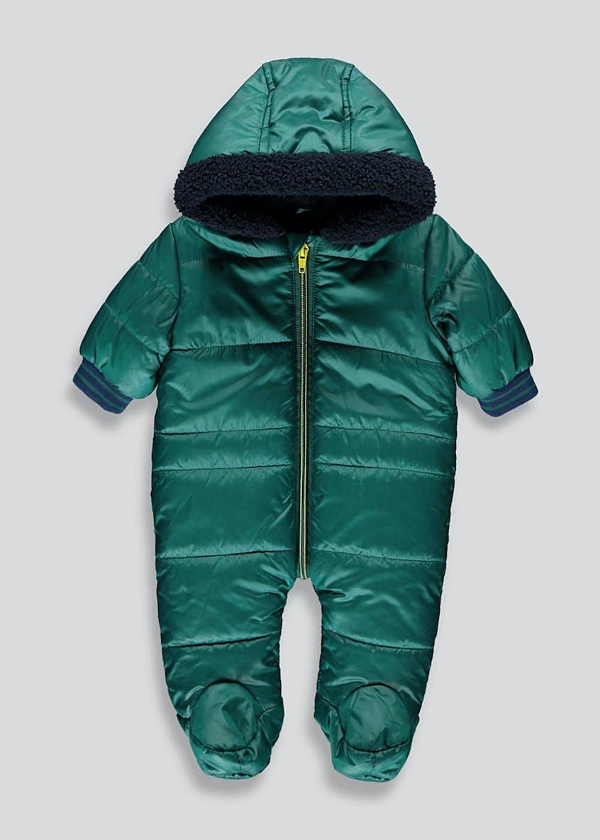 Unisex Teal Padded Snowsuit (Tiny Baby-18mths)