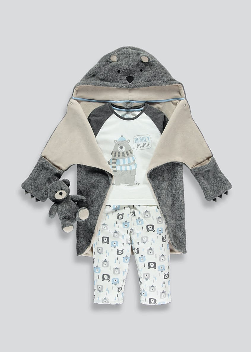 Boys 3 Piece Bear Pyjama Set (9mths-5yrs)