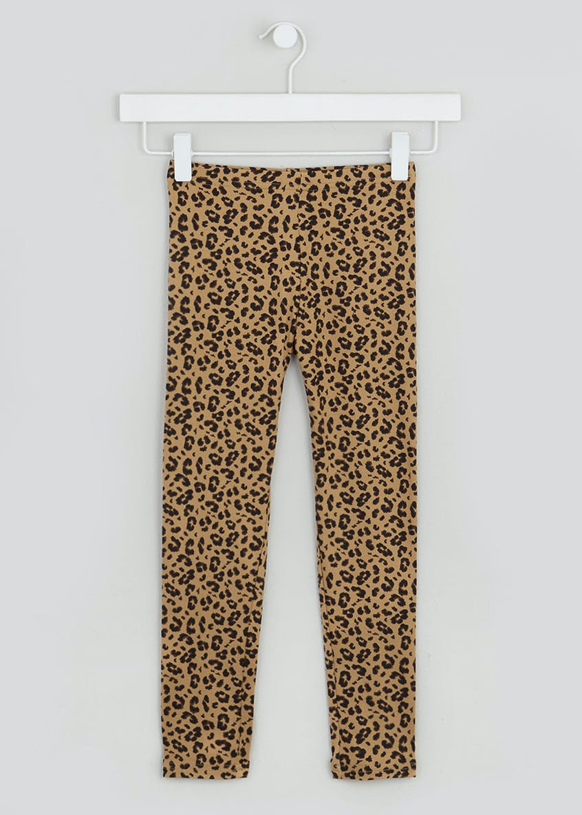 Girls Leopard Print Leggings (4-13yrs)
