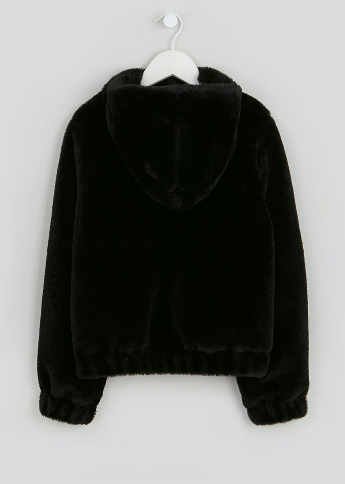 Girls Candy Couture Hooded Faux Fur Bomber Jacket (9-16yrs)