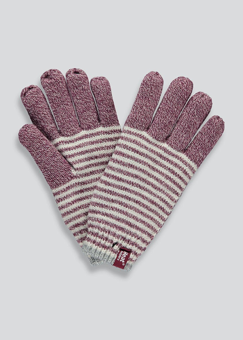 Heat Holders Striped Thermal Gloves