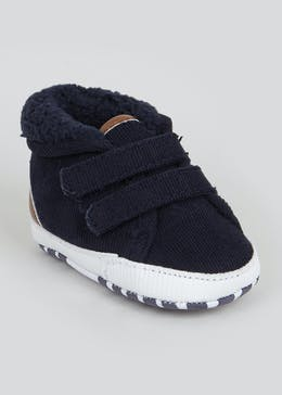Boys Soft Sole Hi Top Baby Trainers (Newborn-18mths)