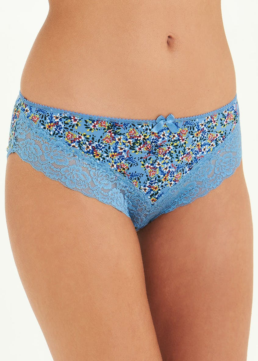 3 Pack Floral High Leg Knickers