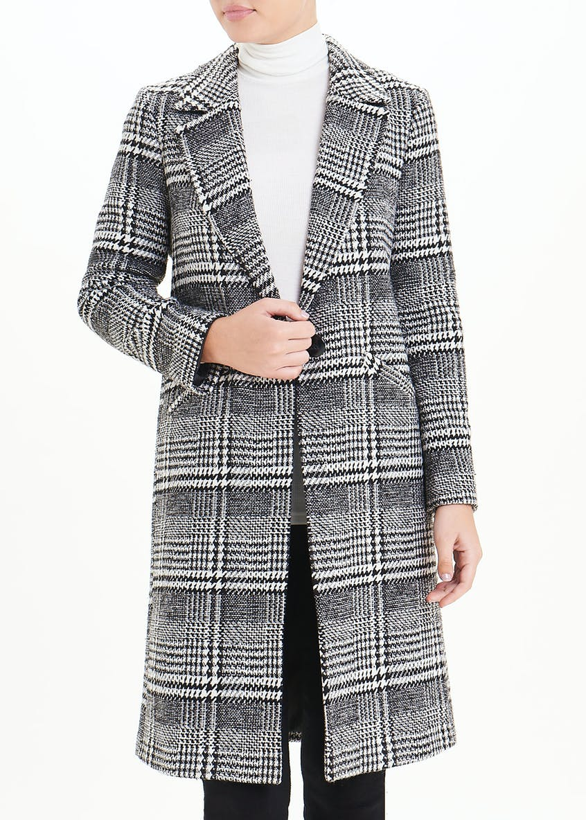 Check Single Breasted Coat
