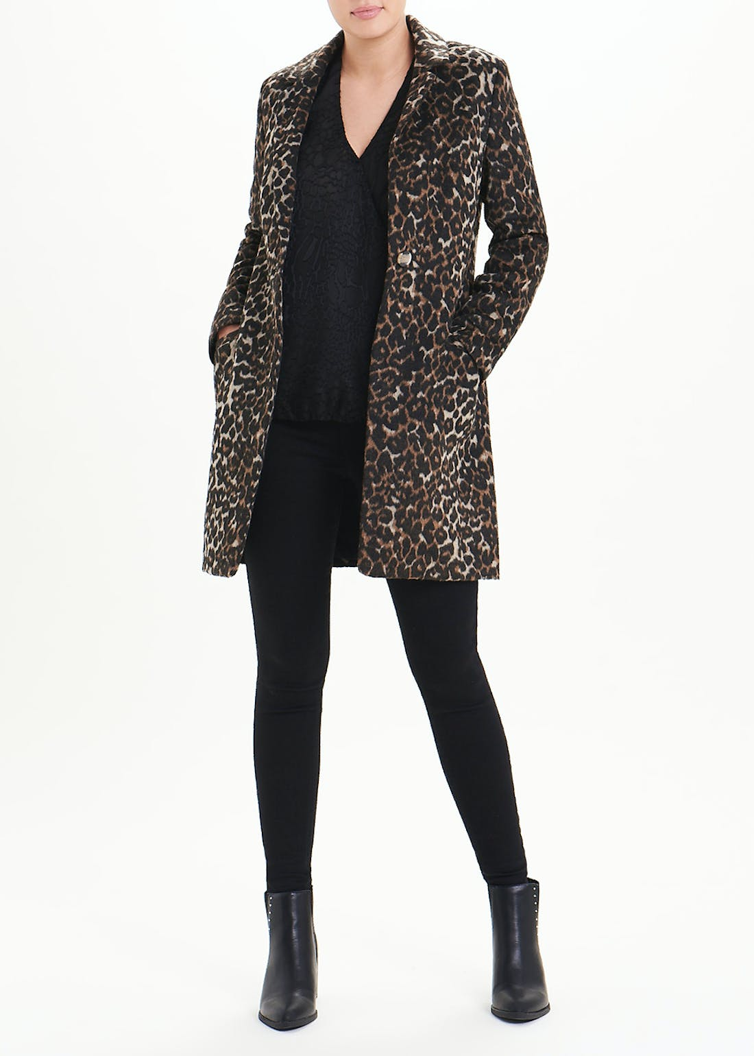 Soon Animal Print Formal Coat