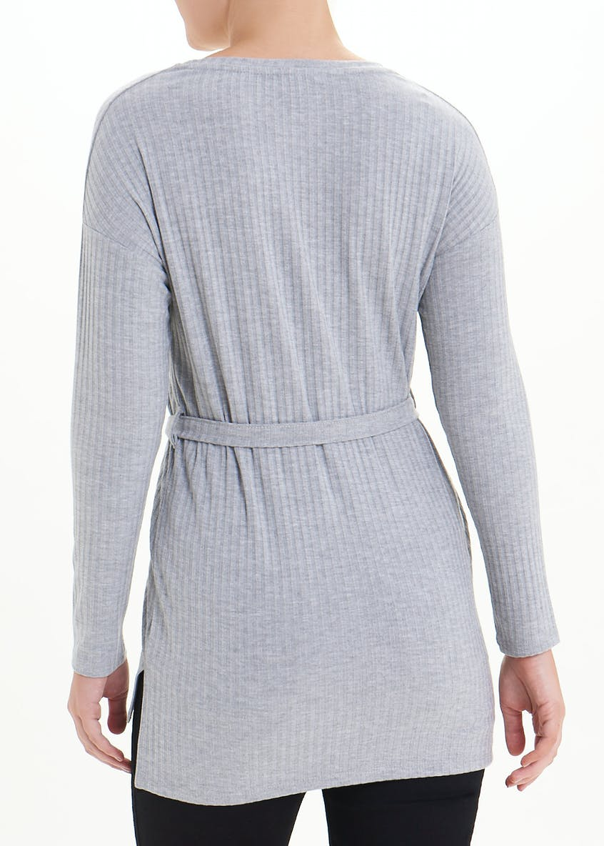 Ribbed Belted Top