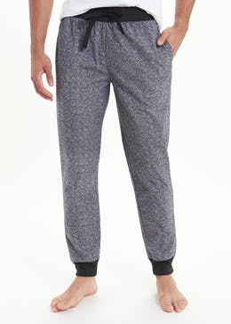 Herringbone Fleece Pyjama Bottoms