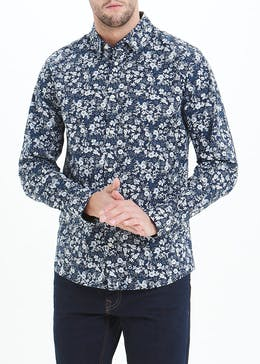 Easy Black Label Slim Fit Botanical Shirt