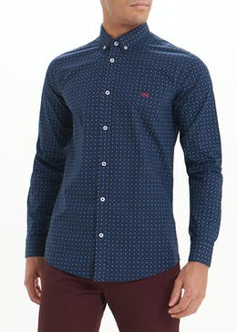 Easy Black Label Slim Fit Printed Shirt