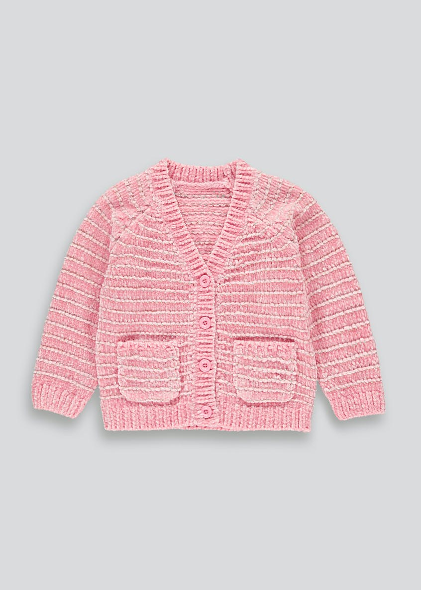 Girls Sparkle Stripe Chenille Cardigan (9mths-6yrs)