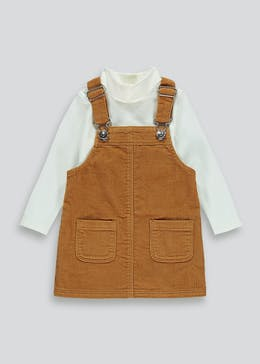Girls Cord Pinafore Dress  & Top Set (9mths-6yrs)