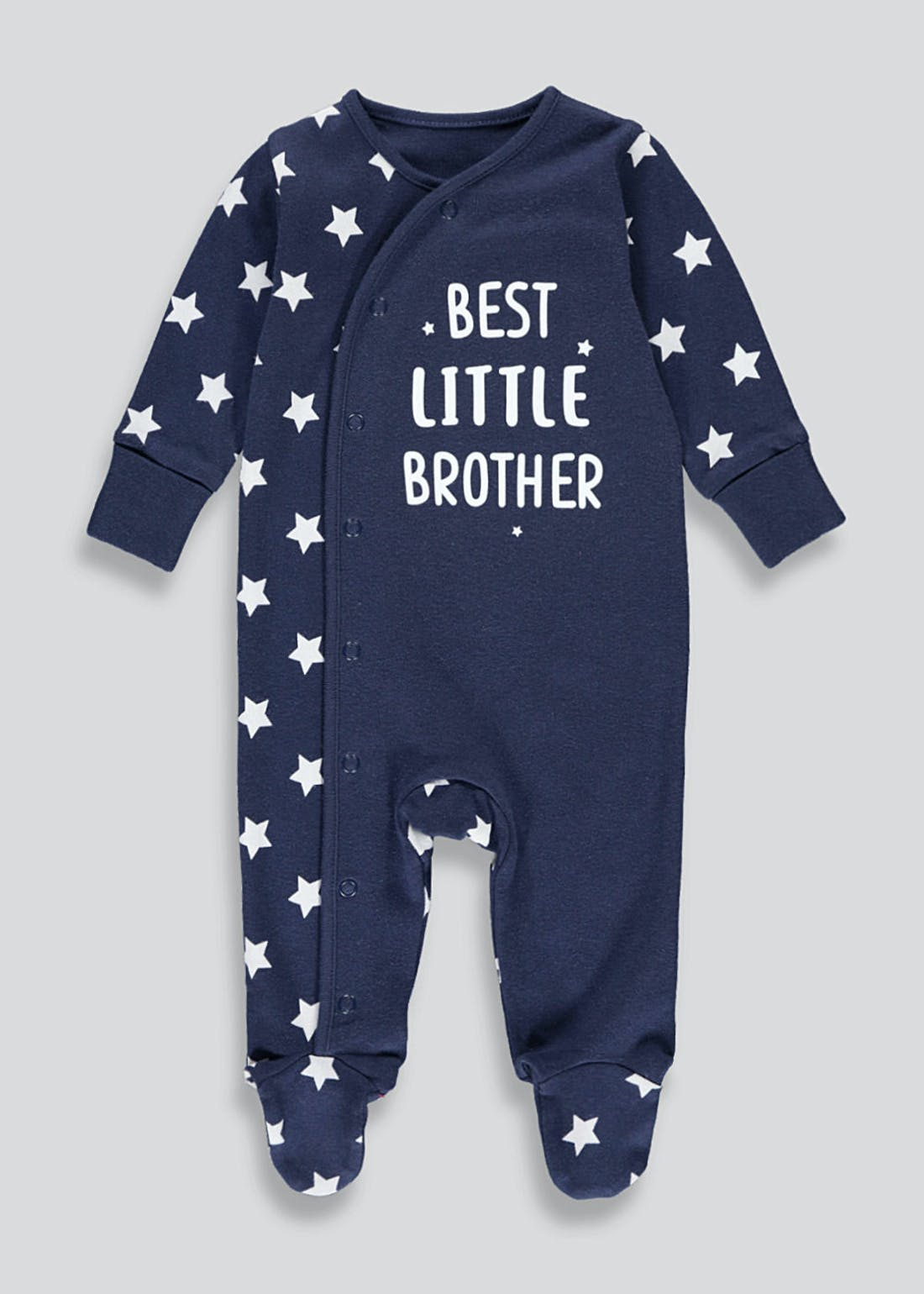 Boys Best Little Brother Baby Grow (Tiny Baby-9mths)