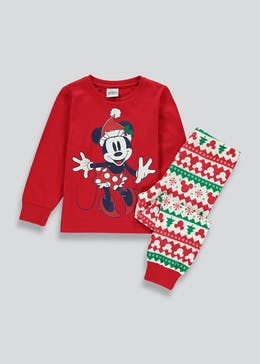 Kids Minnie Mouse Christmas Pyjama Set (12mths-10yrs)
