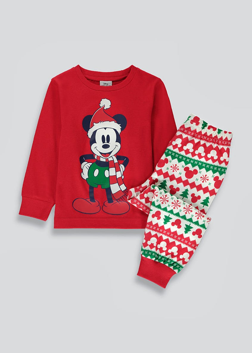 Kids Mickey Mouse Christmas Pyjama Set (12mths-10yrs)