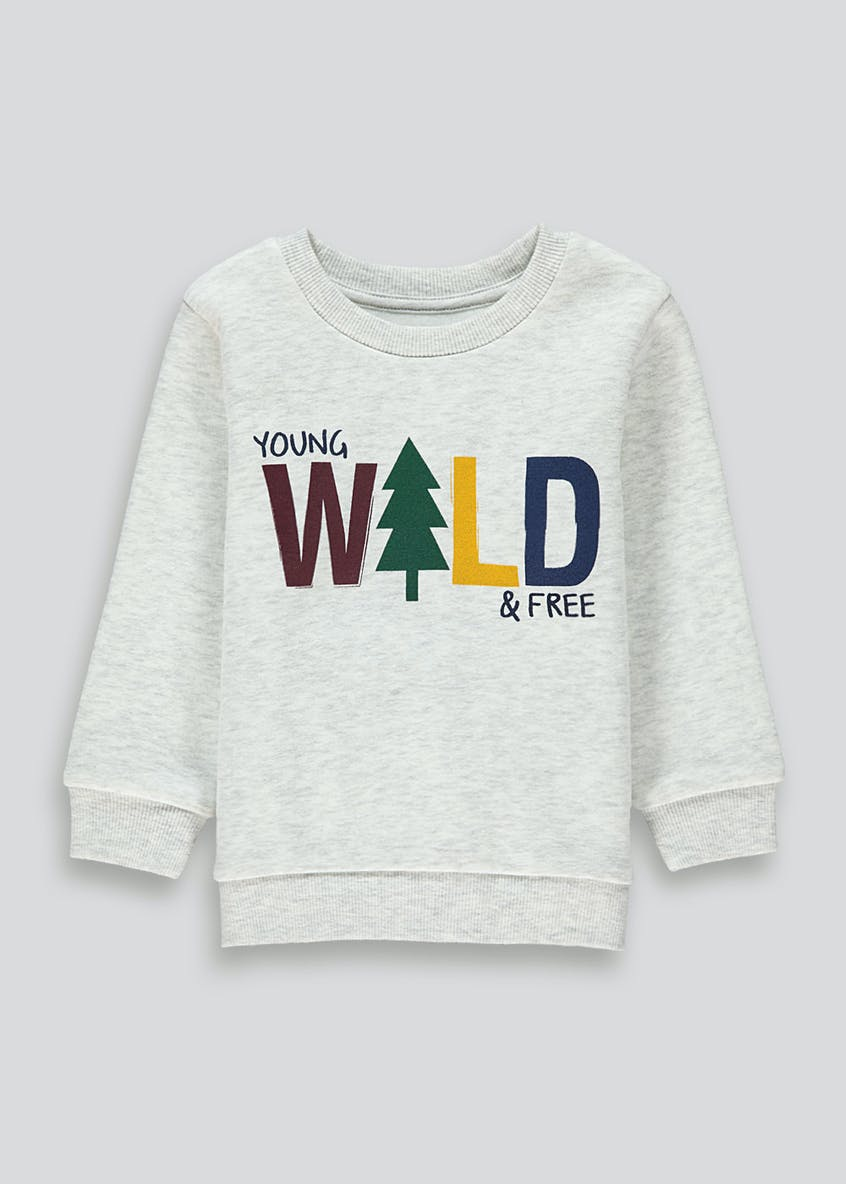 Boys Slogan Sweatshirt (9mths-6yrs)