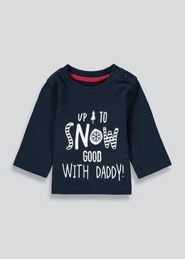 Kids Slogan Christmas Top (Tiny Baby-18mths)