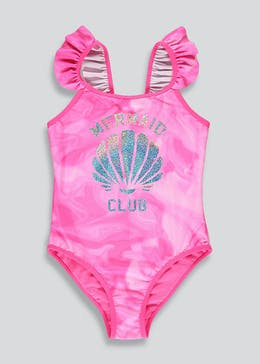 Girls Mermaid Club Sparkle Swimming Costume (4-13yrs)