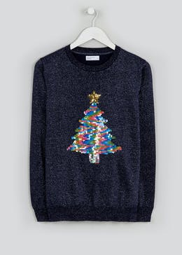 Sequin Christmas Tree Jumper