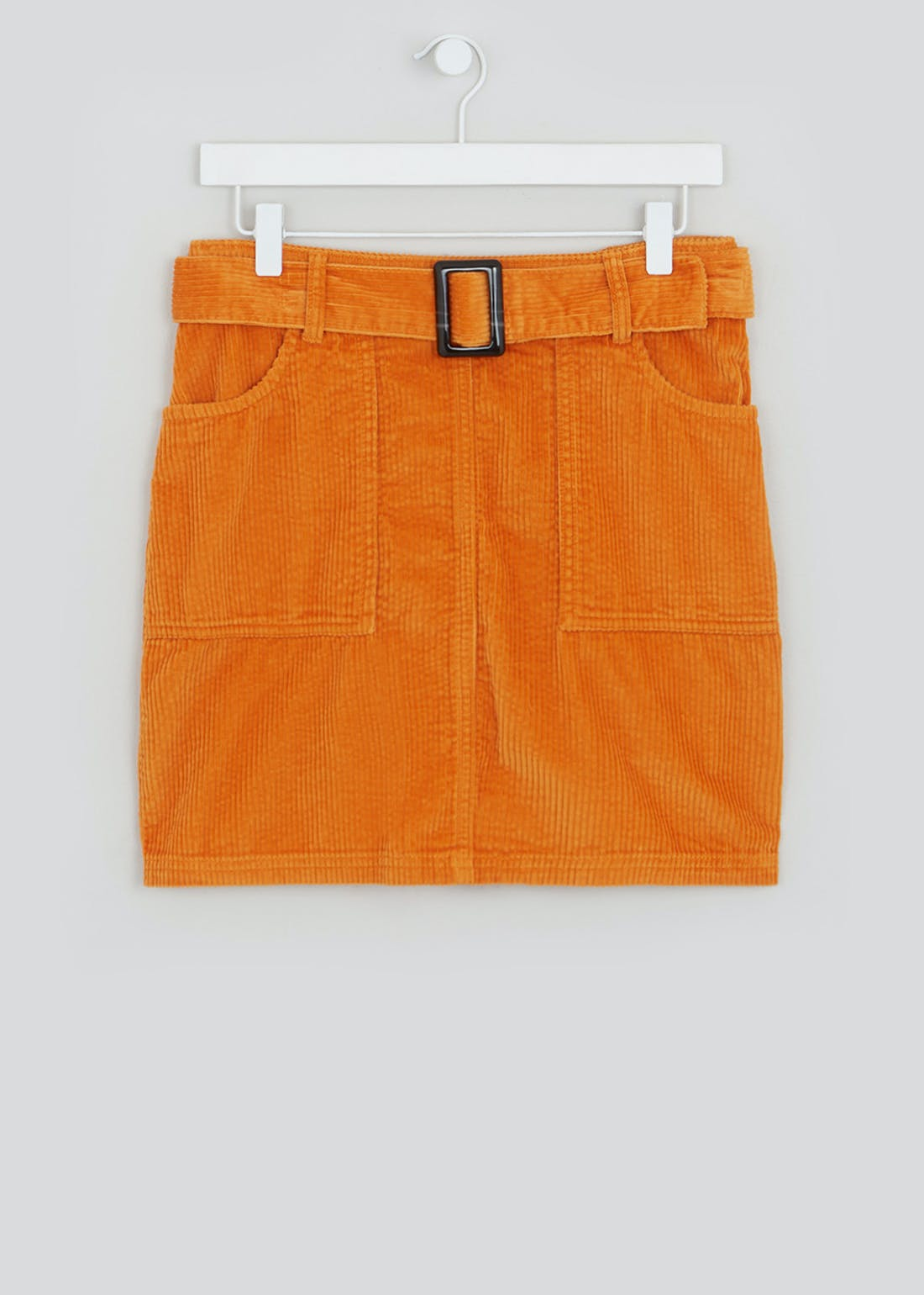 Belted Cord Mini Skirt