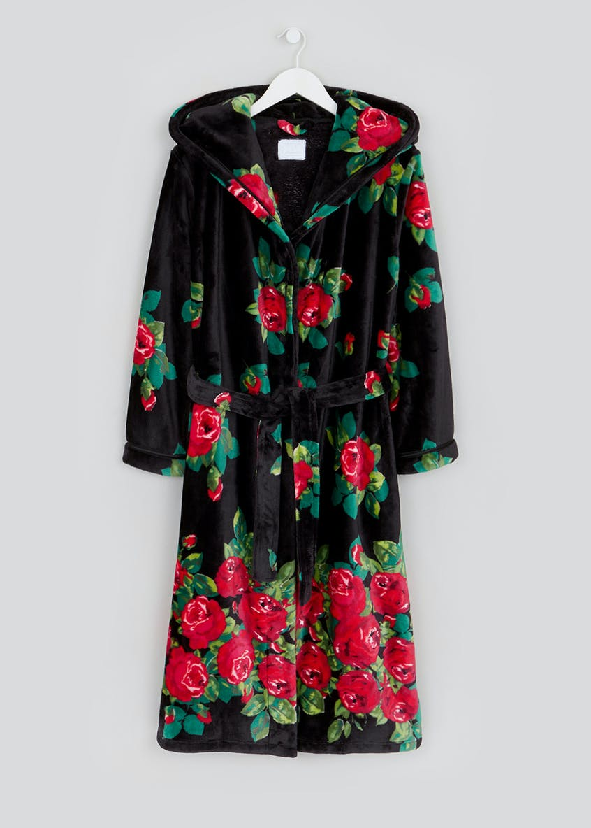 Rose Print Dressing Gown