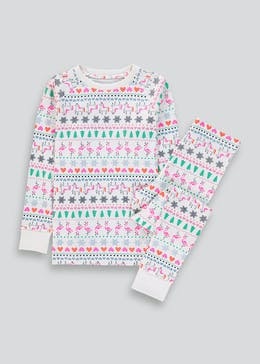 Kids Fairisle Christmas Pyjamas (4-13yrs)