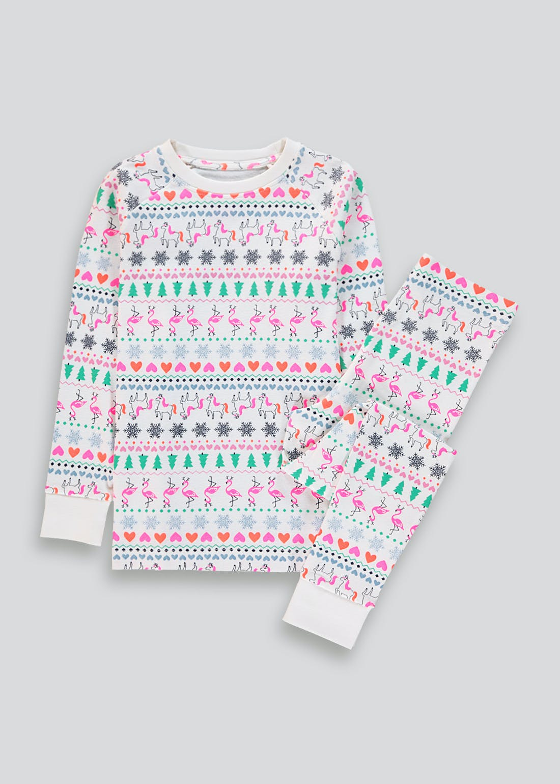Kids Fair Isle Christmas Pyjamas (4-13yrs)
