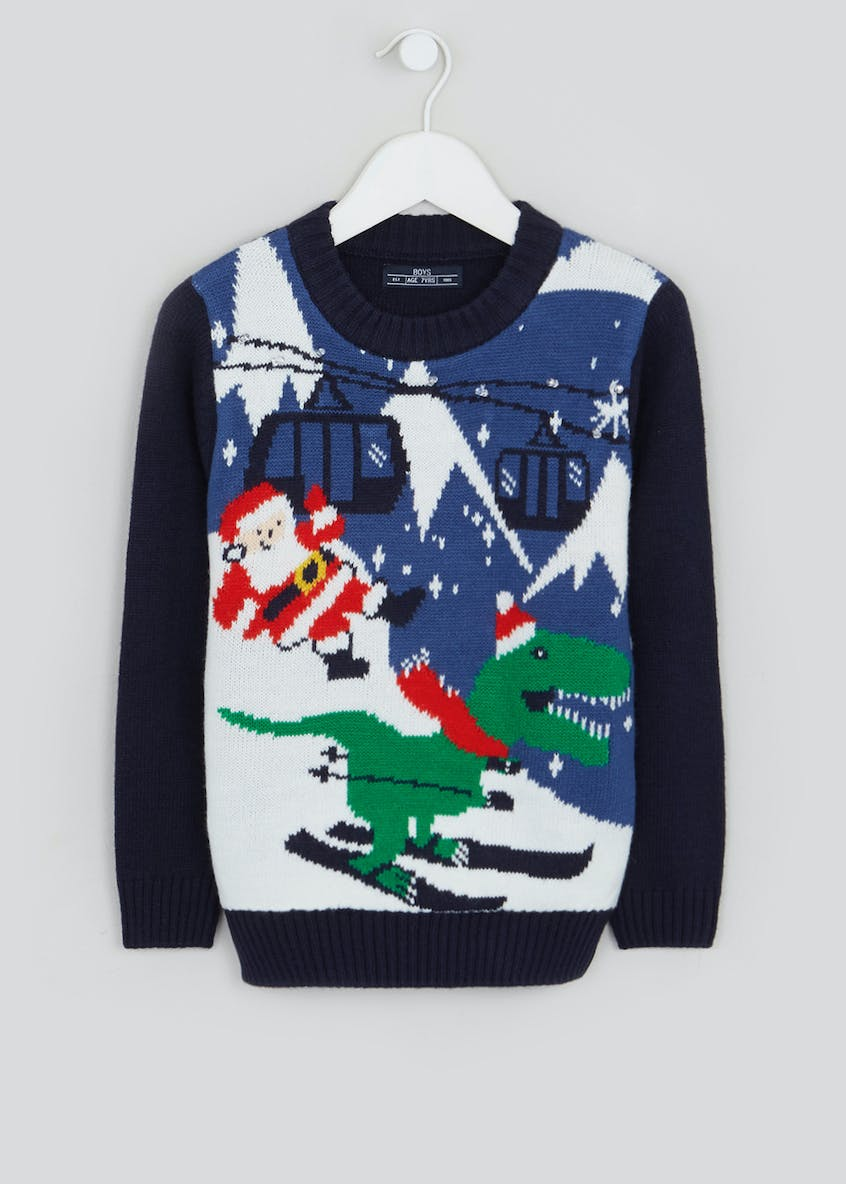 Kids Christmas Dinosaur Jumper (4-10yrs)